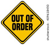 out of order sign  vector... | Shutterstock .eps vector #409618450
