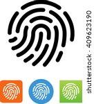fingerprint   biometric icon   Shutterstock .eps vector #409623190