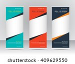 roll up banner stand template... | Shutterstock .eps vector #409629550