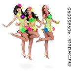 dancer team wearing a folk... | Shutterstock . vector #409630090