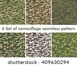seamless set of camouflage... | Shutterstock .eps vector #409630294