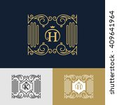 monogram design elements ... | Shutterstock .eps vector #409641964