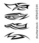 tribal tattoo art | Shutterstock .eps vector #409645144