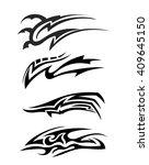 tribal tattoo art | Shutterstock .eps vector #409645150