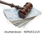 pestle and turkish lira justice ... | Shutterstock . vector #409651114