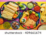 tamale with corn leaf and... | Shutterstock . vector #409661674