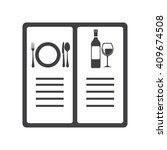 menu icon vector illustration... | Shutterstock .eps vector #409674508