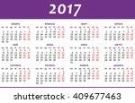 calendar for 2017 on white... | Shutterstock .eps vector #409677463