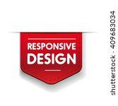responsive design red ribbon | Shutterstock .eps vector #409683034