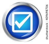 blue icon  isolated on white....   Shutterstock . vector #409698706