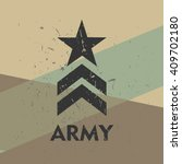 army military stamp  label ...