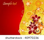 floral background with red and...   Shutterstock .eps vector #40970236
