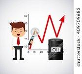 world oil prices design  | Shutterstock .eps vector #409709683