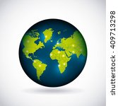 world map design  | Shutterstock .eps vector #409713298