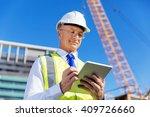 engineer builder at... | Shutterstock . vector #409726660