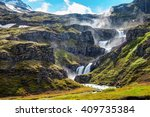 The Klifbrekkufossar Waterfall...