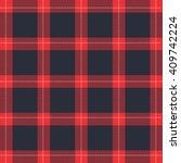 lumberjack red black stitching... | Shutterstock .eps vector #409742224