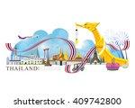 vector landmark of bangkok... | Shutterstock .eps vector #409742800
