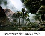3d illustration of tropical... | Shutterstock . vector #409747924