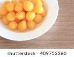 thai dessert  egg yolk drops...   Shutterstock . vector #409753360