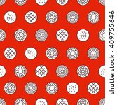 burger seamless pattern. fast... | Shutterstock .eps vector #409755646