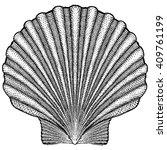 scallop shell illustration | Shutterstock .eps vector #409761199