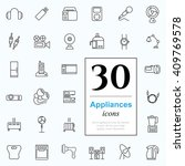 set of household appliances... | Shutterstock .eps vector #409769578