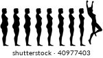 woman silhouettes are symbol of ... | Shutterstock .eps vector #40977403