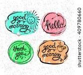 vector set of hand drawn... | Shutterstock .eps vector #409780660