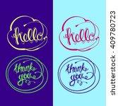 hand drawn vector lettering.... | Shutterstock .eps vector #409780723