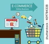 e commerce. online business.... | Shutterstock . vector #409784338