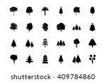 trees vector icons 1 | Shutterstock .eps vector #409784860