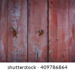 old red wooden wall with... | Shutterstock . vector #409786864