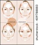 contour and highlight makeup.... | Shutterstock . vector #409788883