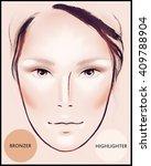 contour and highlight makeup.... | Shutterstock . vector #409788904