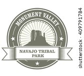 monument valley stamp   navajo... | Shutterstock .eps vector #409791784