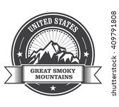 great smoky mountains stamp  ... | Shutterstock .eps vector #409791808
