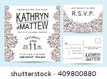 elegant wedding invitation set... | Shutterstock .eps vector #409800880