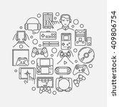 gaming round illustration  ...   Shutterstock .eps vector #409806754