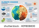 climate change infographics | Shutterstock .eps vector #409808830