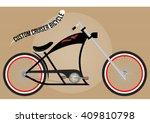 custom chopper cruiser bicycle  ... | Shutterstock .eps vector #409810798
