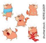 set of cartoon illustration... | Shutterstock . vector #409816009