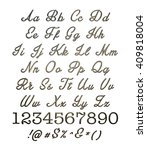 3d metallic alphabets with... | Shutterstock . vector #409818004
