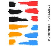 set of colored brush strokes of ... | Shutterstock .eps vector #409822828