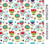 seamless vector pattern  cute... | Shutterstock .eps vector #409823398