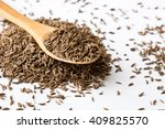 aromatic natural caraway seeds... | Shutterstock . vector #409825570