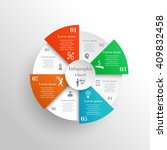 abstract circle infographic...   Shutterstock .eps vector #409832458