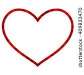 ribbon heart isolated on white... | Shutterstock .eps vector #409832470