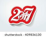 happy new year 2017 creative...   Shutterstock .eps vector #409836130