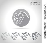 geology outline icon set ... | Shutterstock .eps vector #409836664